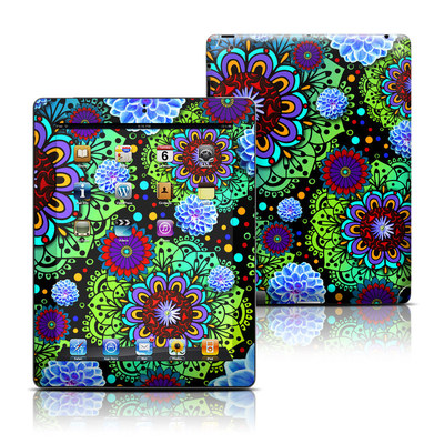 Apple iPad 3 Skin - Funky Floratopia