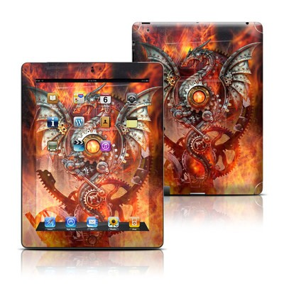 Apple iPad 3 Skin - Furnace Dragon