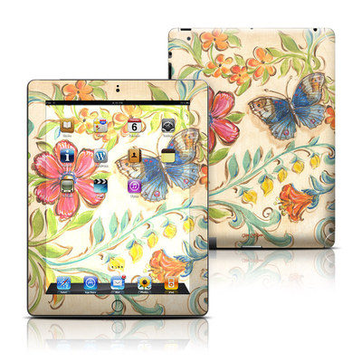 Apple iPad 3 Skin - Garden Scroll