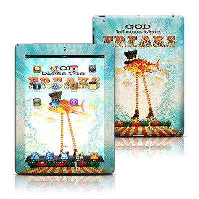Apple iPad 3 Skin - God Bless The Freaks