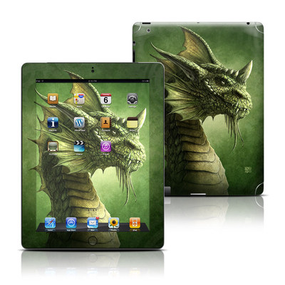 Apple iPad 3 Skin - Green Dragon