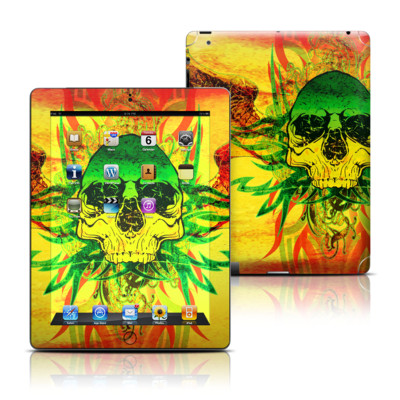 Apple iPad 3 Skin - Hot Tribal Skull
