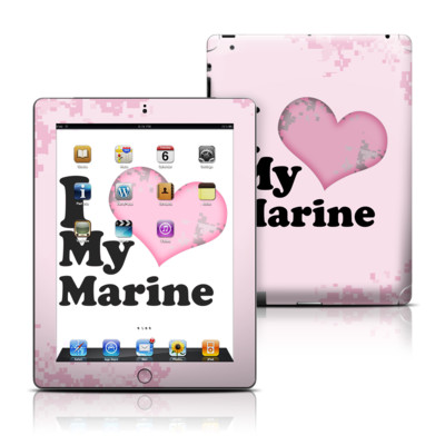Apple iPad 3 Skin - I Love My Marine