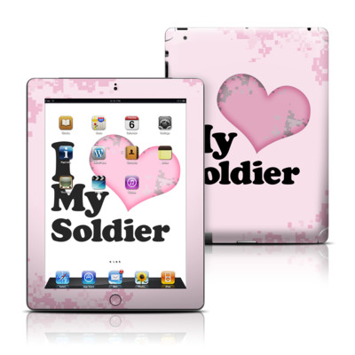 Apple iPad 3 Skin - I Love My Soldier