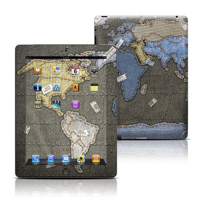 Apple iPad 3 Skin - Jean Map