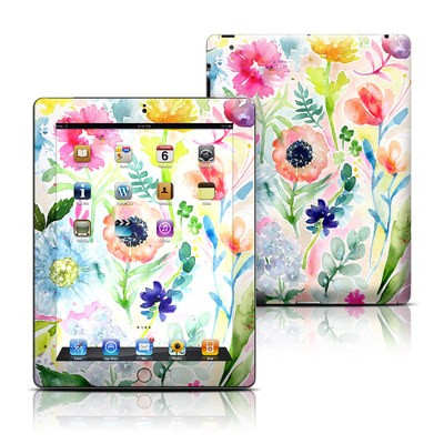Apple iPad 3 Skin - Loose Flowers