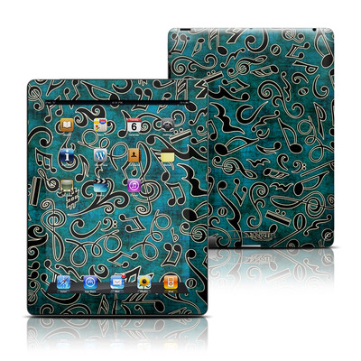 Apple iPad 3 Skin - Music Notes