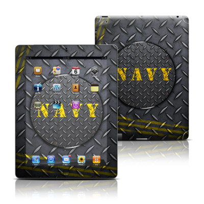 Apple iPad 3 Skin - Navy Diamond Plate