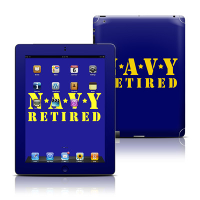 Apple iPad 3 Skin - Navy Retired