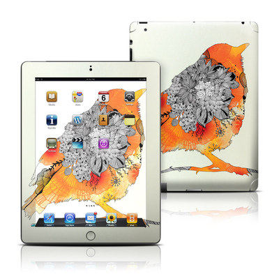 Apple iPad 3 Skin - Orange Bird