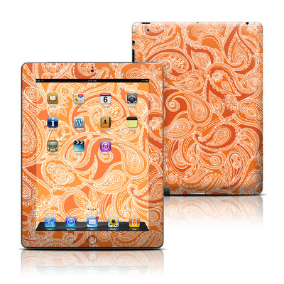Apple iPad 3 Skin - Paisley In Orange