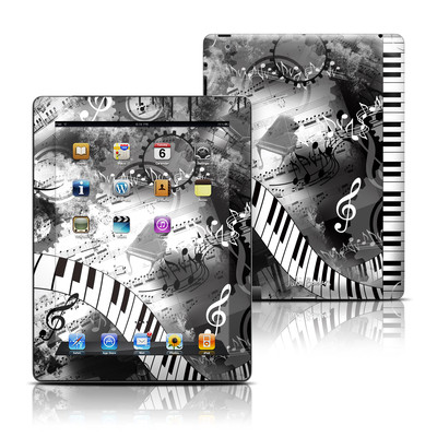 Apple iPad 3 Skin - Piano Pizazz