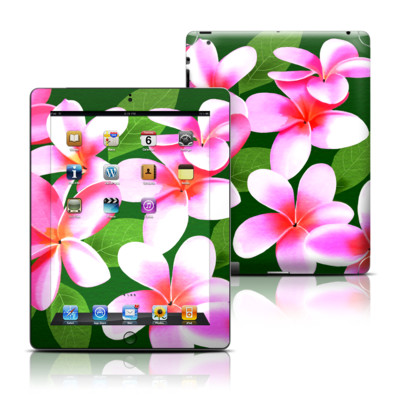 Apple iPad 3 Skin - Pink Plumerias