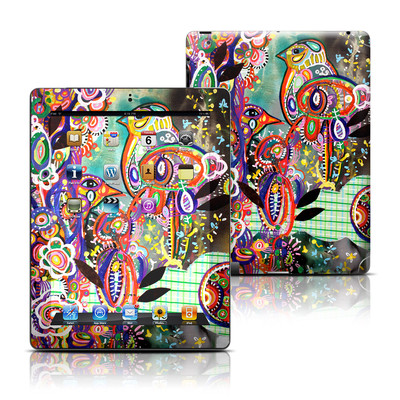 Apple iPad 3 Skin - Purple Birds