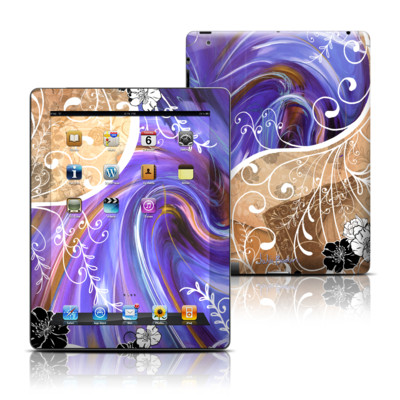 Apple iPad 3 Skin - Purple Waves