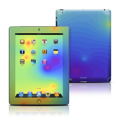 Apple iPad 3 Skin - Rainbow Contours
