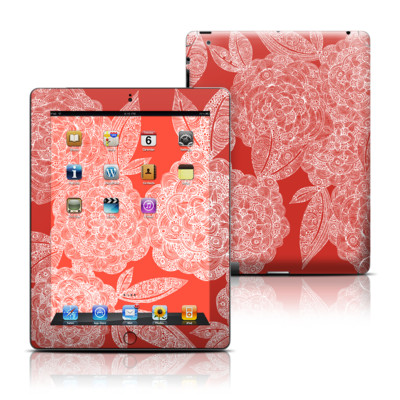 Apple iPad 3 Skin - Red Dahlias