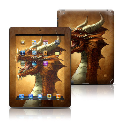 Apple iPad 3 Skin - Red Dragon