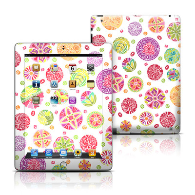 Apple iPad 3 Skin - Round Flowers