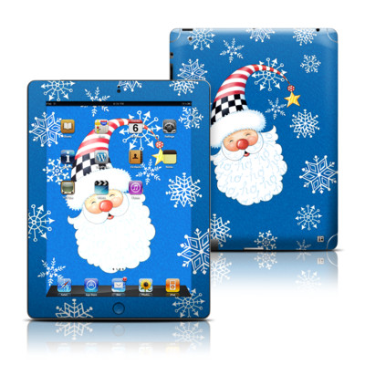 Apple iPad 3 Skin - Santa Snowflake