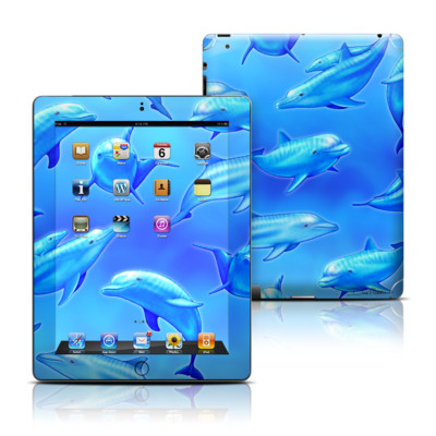 Apple iPad 3 Skin - Swimming Dolphins