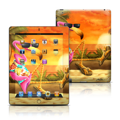 Apple iPad 3 Skin - Sunset Flamingo