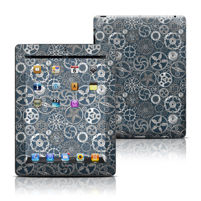 Apple iPad 3 Skin - Silver Gears