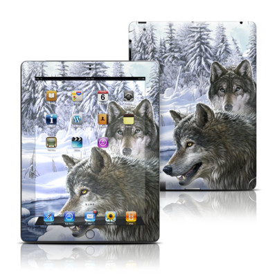 Apple iPad 3 Skin - Snow Wolves