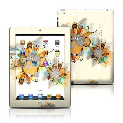 Apple iPad 3 Skin - Sunset Flowers