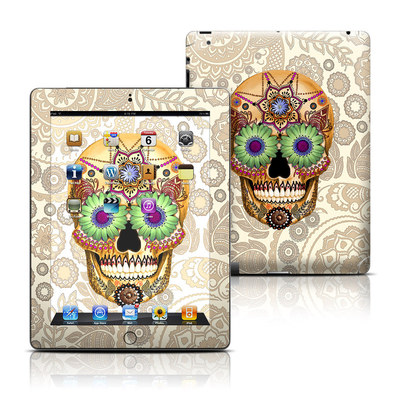 Apple iPad 3 Skin - Sugar Skull Bone