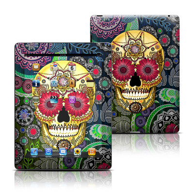 Apple iPad 3 Skin - Sugar Skull Paisley