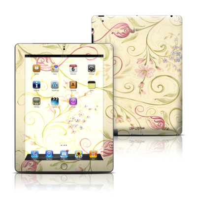 Apple iPad 3 Skin - Tulip Scroll