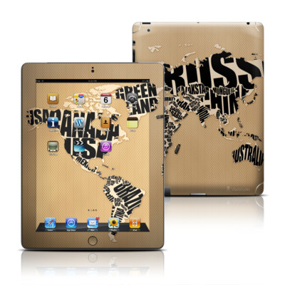 Apple iPad 3 Skin - Type Map