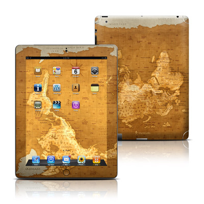 Apple iPad 3 Skin - Upside Down Map