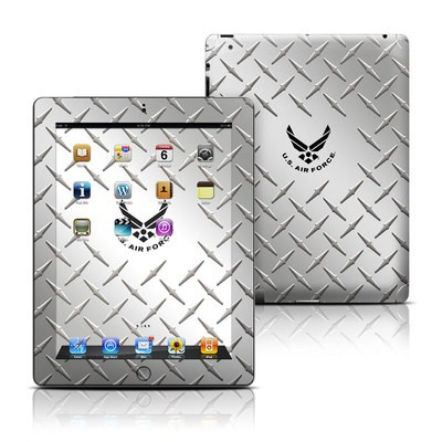 Apple iPad 3 Skin - USAF Diamond Plate