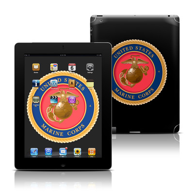 Apple iPad 3 Skin - USMC Black