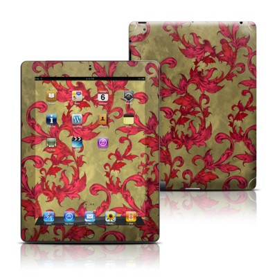 Apple iPad 3 Skin - Vintage Scarlet