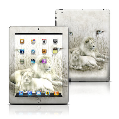 Apple iPad 3 Skin - White Lion