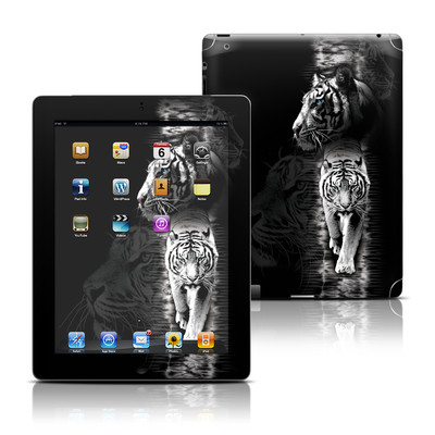 Apple iPad 3 Skin - White Tiger