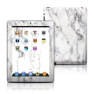 Apple iPad 3 Skin - White Marble