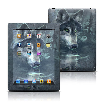 Apple iPad 3 Skin - Wolf Reflection