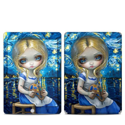 Apple iPad 5th Gen Skin - Alice in a Van Gogh