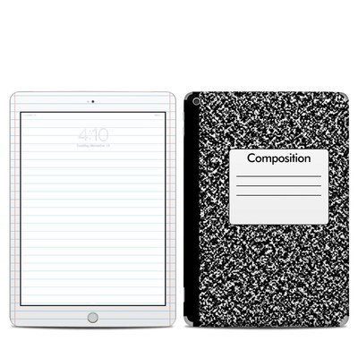 Apple iPad 5th Gen Skin - Composition Notebook