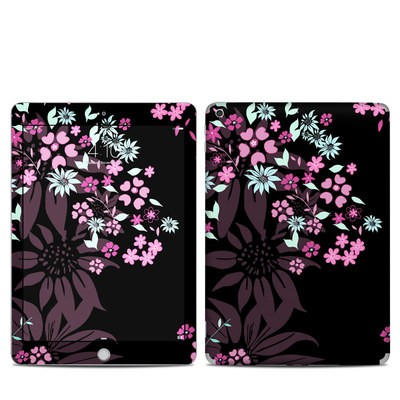 Apple iPad 5th Gen Skin - Dark Flowers