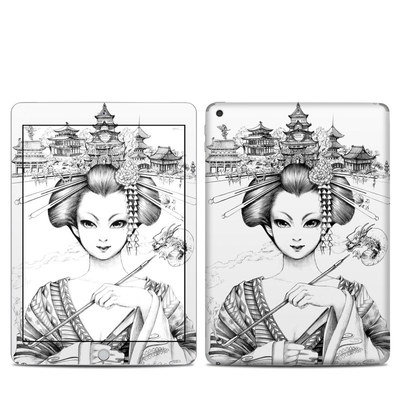 Apple iPad 5th Gen Skin - Geisha Sketch