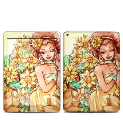 Apple iPad 5th Gen Skin - Lady Sunflower