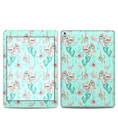 Apple iPad 5th Gen Skin - Merkittens with Pearls Aqua