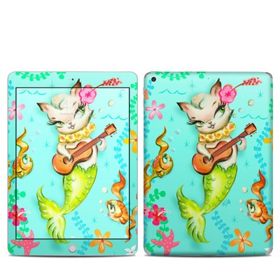 Apple iPad 5th Gen Skin - Merkitten with Ukelele