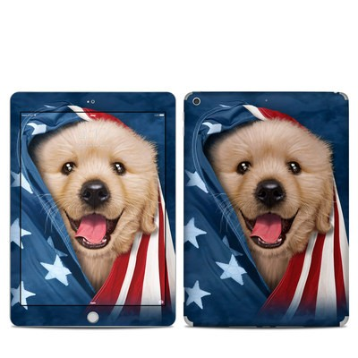 Apple iPad 5th Gen Skin - Patriotic Retriever