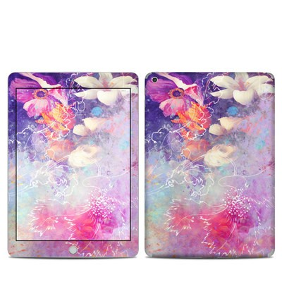 Apple iPad 5th Gen Skin - Sketch Flowers Lily